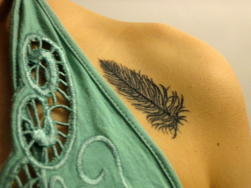 Feather Closeup Tattoos