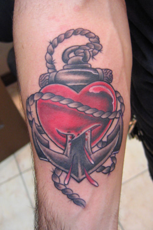 Heart Anchor Tattoos Ideas