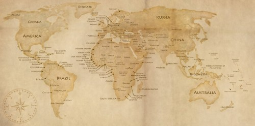 World Map Texture