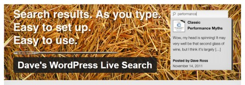 Dave's WordPress Live Search