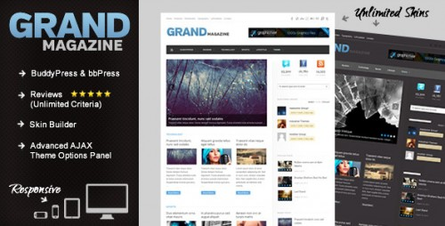 GrandMag - BuddyPress Magazine, Review Theme