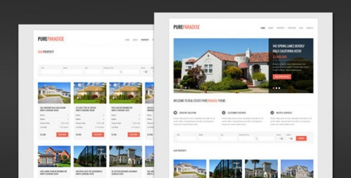 Pure Paradise - Real Estate WordPress Theme