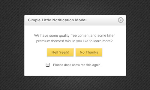 Web Design Modal Box