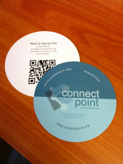 cool circle business cards