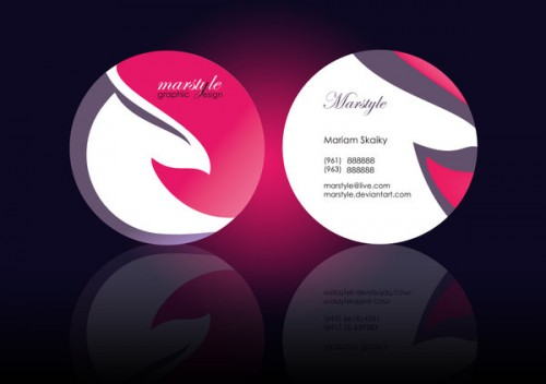 24 captivating circle business cards designemerald elegant business card design accmission Gallery