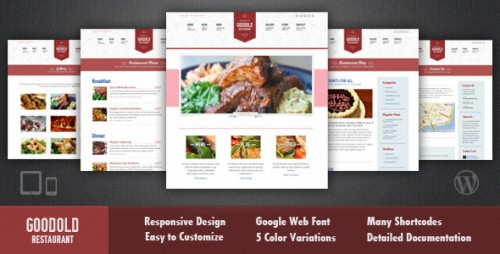 Goodold Restaurant WordPress Theme