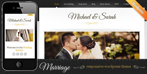Marriage - Wedding WordPress Theme
