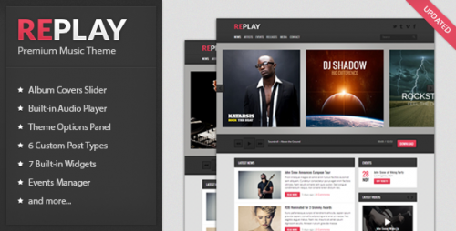 Replay - Music WordPress Theme