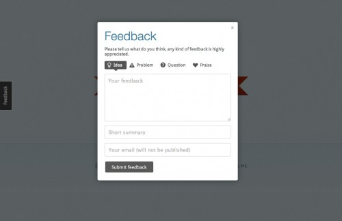 Usernoise Modal Feedback