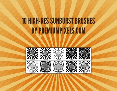 10 High Resolution Sunburst Brushes