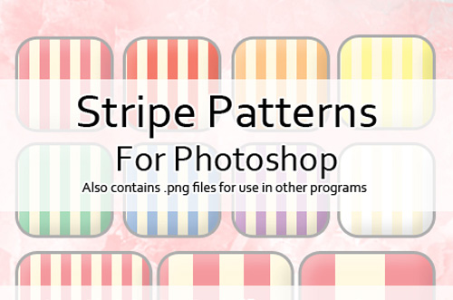 24 Stripe Patterns for PS