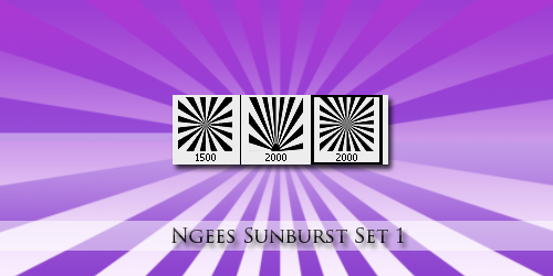 3 Ngee Sunburst Brushes