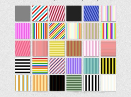 30 Striped Photoshop Patterns
