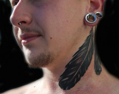 Feathers Tattoo in Black Color