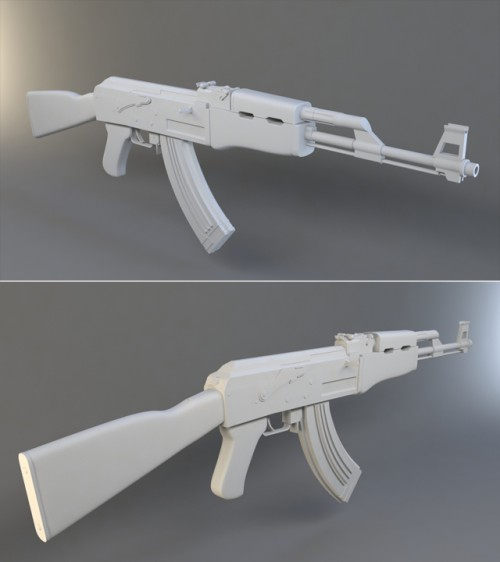 High Poly Weapon Creation