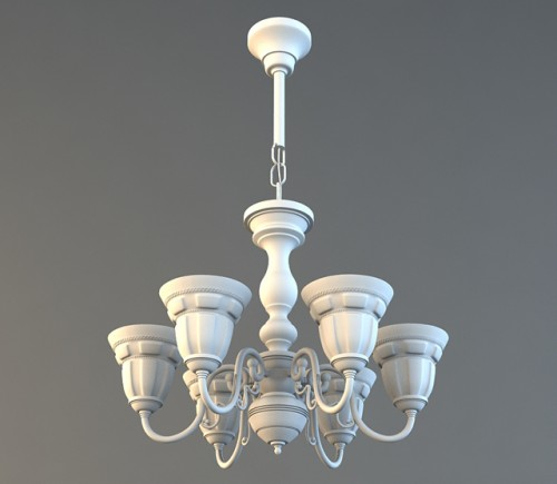 Model A Decorative, High Poly Chandelier