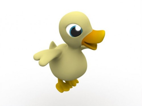 Modeling a Cartoon Duck