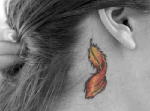 Phoenix Feather Tattoo