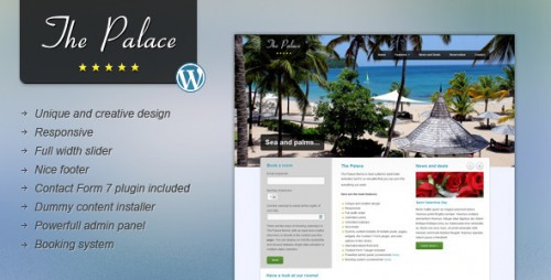 The Palace - Hotel WordPress Theme