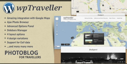 wpTraveller - WordPress Travel Photo blog