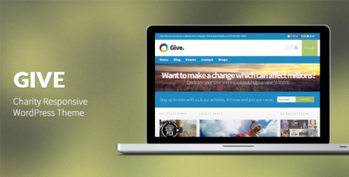 Give: Charity Responsive WP Theme