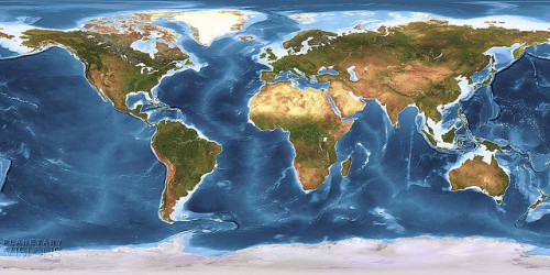 Global Earth Texture Map