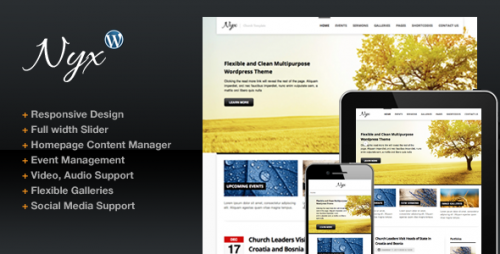 Nyx Responsive Church WP Theme