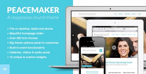 Peacemaker - WordPress Theme for Churches