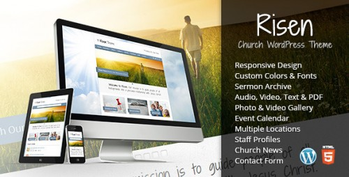 Risen - Church WordPress Theme