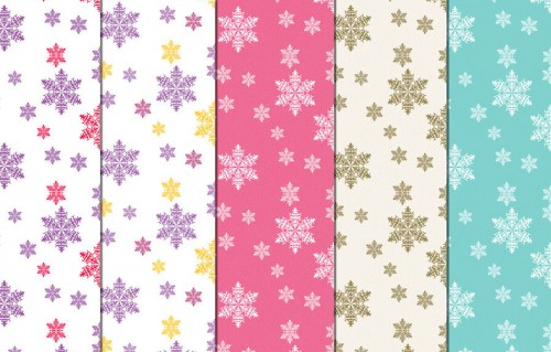 12 Assorted Snowflake Patterns