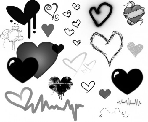 18 Free Heart Brushes