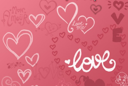 20 Love Brushes for Photoshop