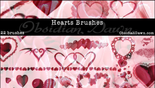 22 Hearts Photoshop Brushes