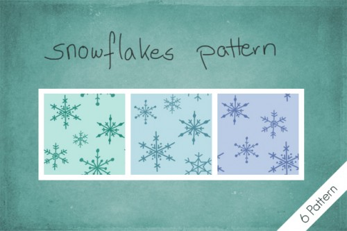 6 Snowflakes Patterns