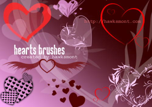 9 Photoshop Hearts Brushes