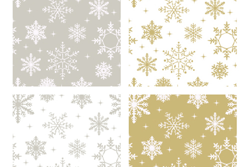 Silver and Gold Flake Patterns - Snowflake Patterns for Photoshop