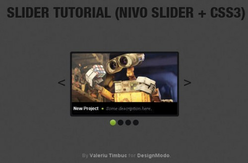 Create an Image Slider using jQuery and CSS3