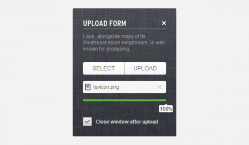Create an Upload Form using jQuery, CSS3 and HTML5