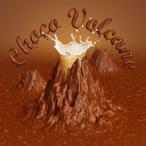 Chocolate Volcano Using 3D Effects