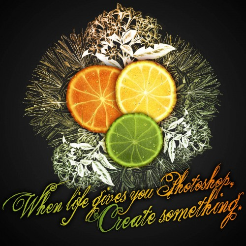 Create a Citrus Fruit Design