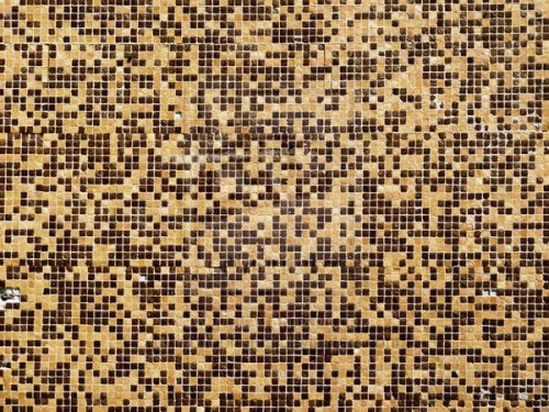 Old Bathroom Mosaic Tile Texture