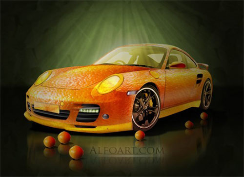 Orange Porsche - Fruit Skin