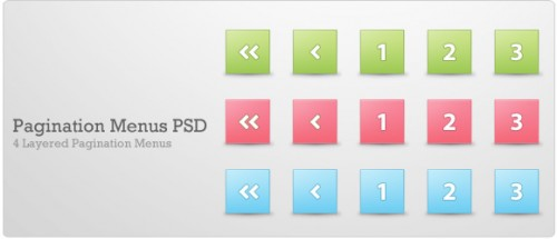 Pagination Menus PSD