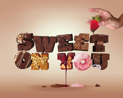 Tasty 3D Typographic