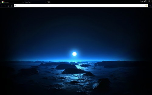 Blue Space Sunset Chrome Theme