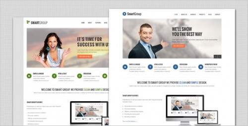 SmartGroup - Clean Marketing WP Theme