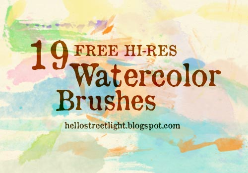 19 Free Watercolor Brushes