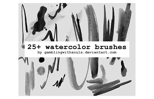 25+ Watercolor Brushes