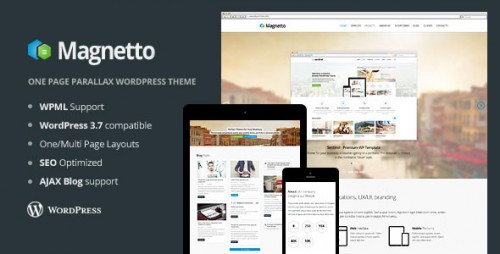 Magnetto - Onepage Parallax WordPress Theme