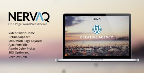 Nervaq - Responsive One Page WP Theme